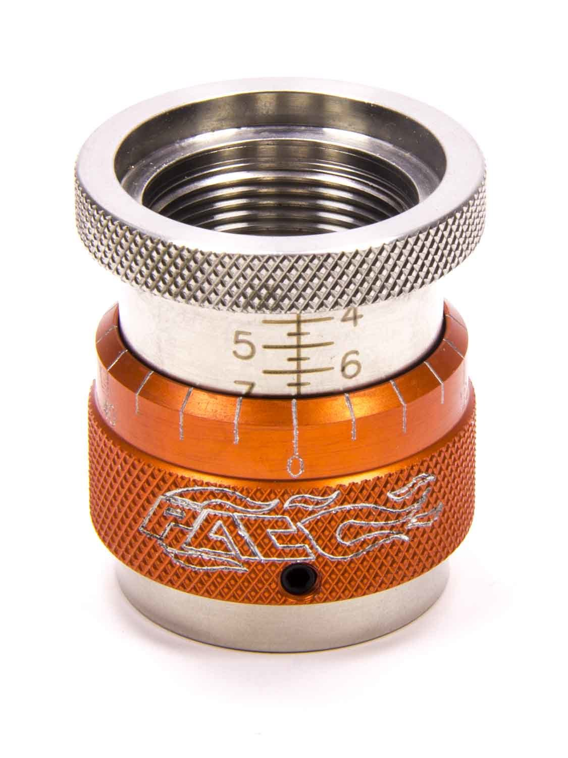 PAC Racing Springs PAC-T903 Valve Spring Height Gauge, 1.400-1.900 in Range, 1.200 in ID, 0.050 in Per Turn, Orange Anodized, Each