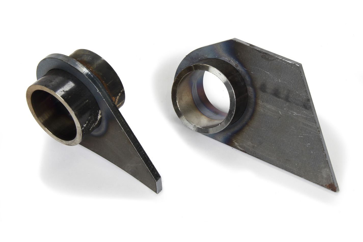 PEM HMBUSET Trailing Arm Bracket, Rear, Upper, Weld-On, Steel, Natural, GM Metric, Pair