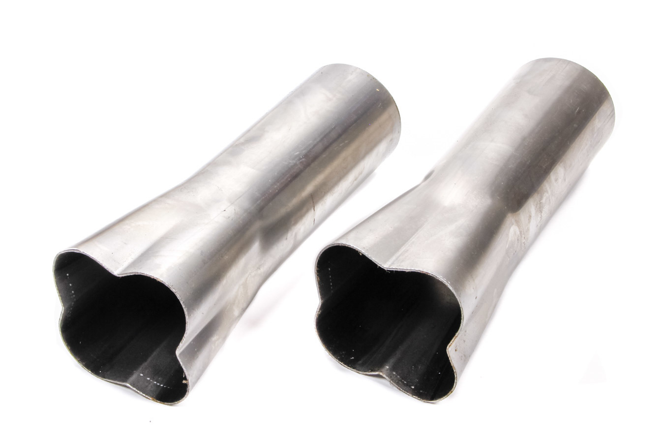 Patriot Exhaust H7670 Collector, Formed, Weld-On, 4 x 1-5/8 in Primary Tubes, 3 in Outlet, 10 in Long, Steel, Natural, Pair