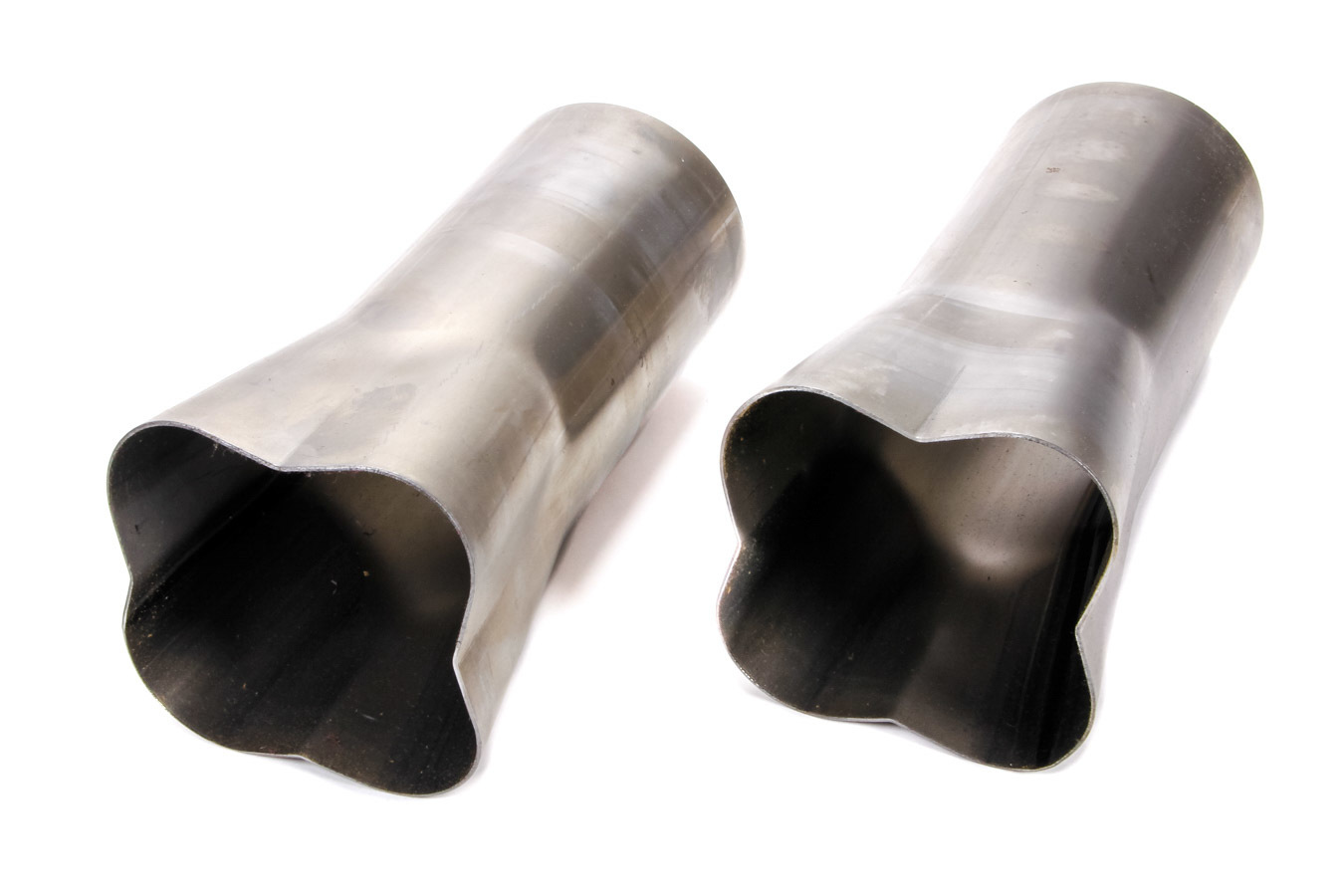 Patriot Exhaust H7690 Collector, Formed, Weld-On, 4 x 2-1/4 in Primary Tubes, 4 in Outlet, 10 in Long, Steel, Natural, Pair