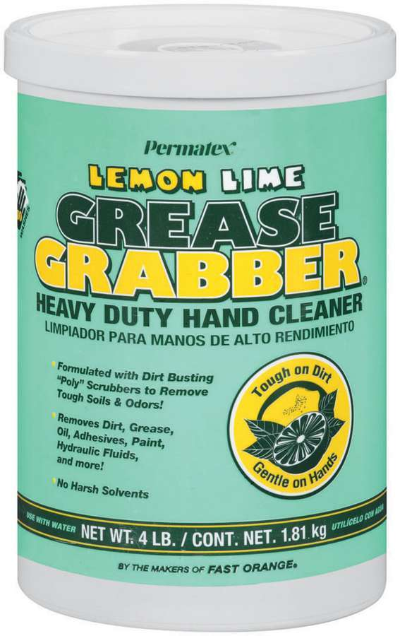 Permatex 13106 Hand Cleaner, Grease Grabber, 4 lb Canister, Each