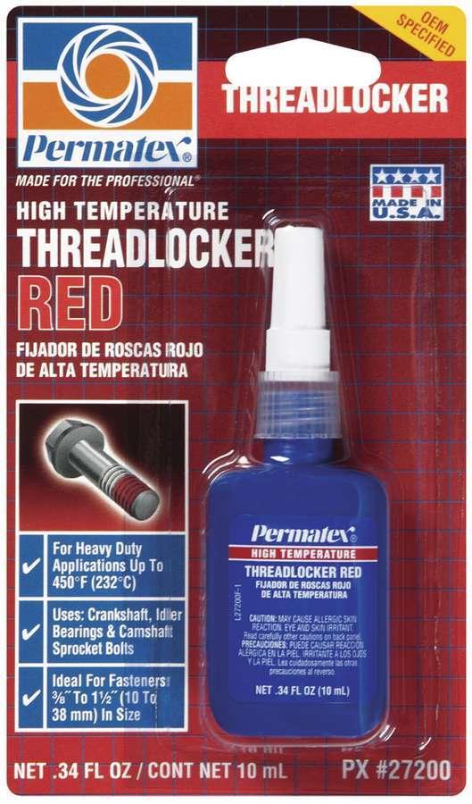 Hi Temp Threadlocker 10ml - Red