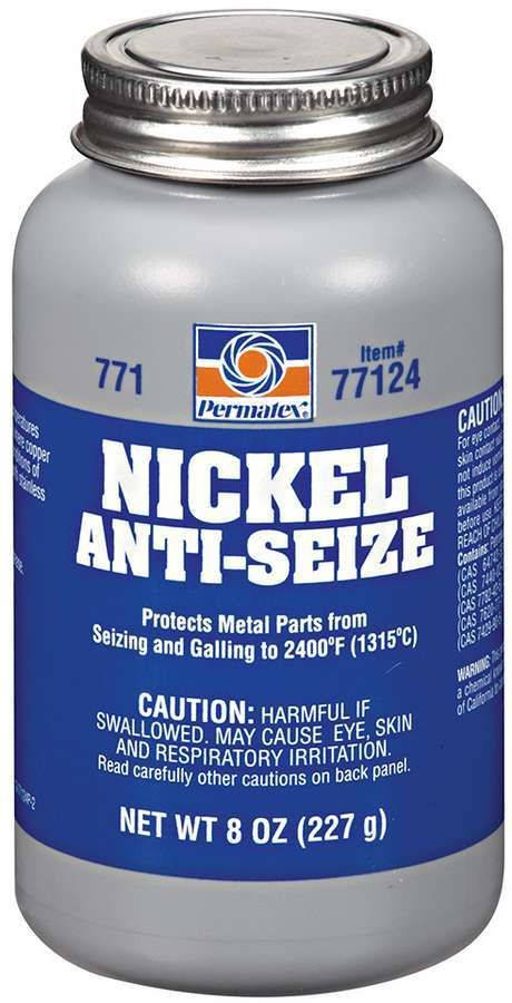 Permatex 77124 Anti-Seize, Nickel, Lubricant, 8.00 oz Brush Top Bottle, Each
