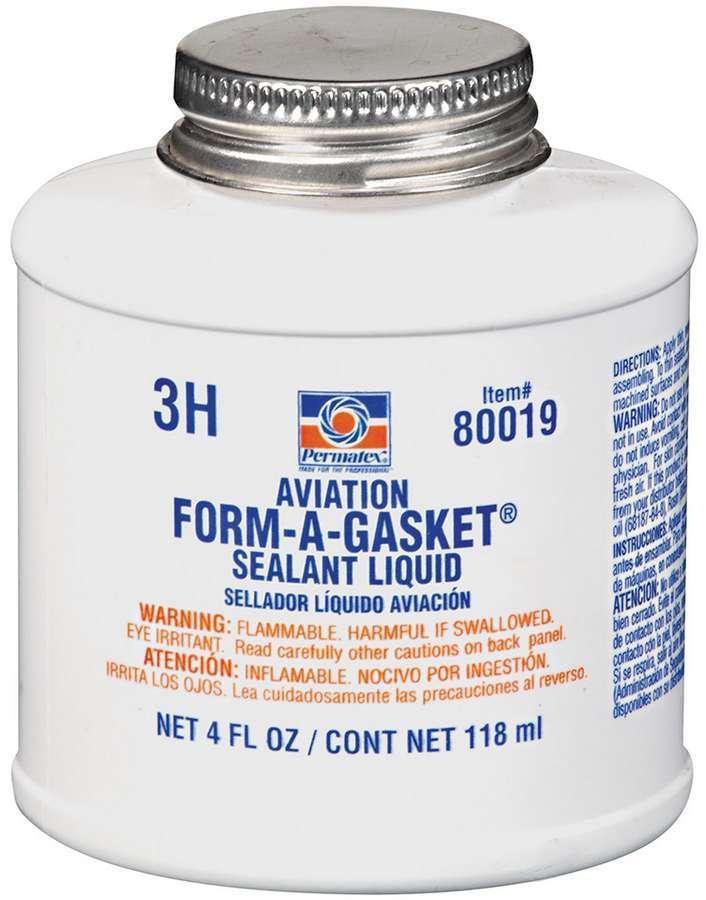 Permatex 80019 Sealant, Aviation Form-A-Gasket, 4.00 oz Brush Top Can, Each