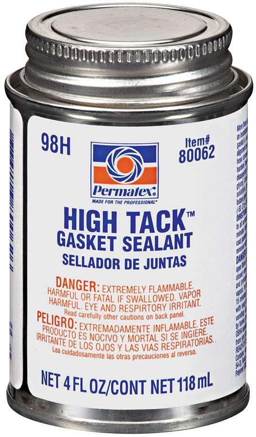 Permatex 80062 Gasket Sealant / Adhesive, High Tack, 4.00 oz Brush Top Can, Each