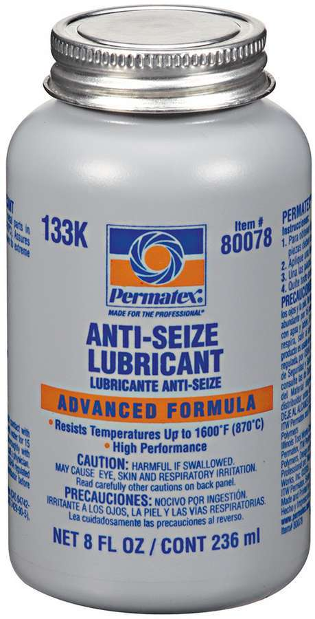 Permatex 80078 Anti-Seize, Lubricant, 8.00 oz Brush Top Bottle, Each