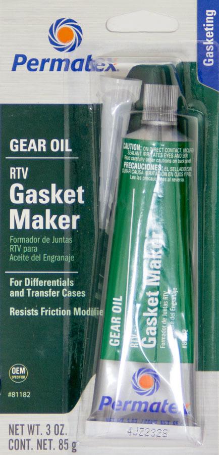 Permatex 81182 Sealant, Gear Oil RTV, Silicone, 3.00 oz Tube, Each