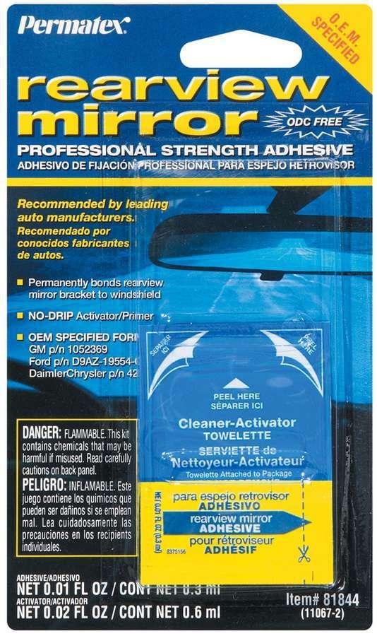 Permatex 81844 Adhesive, Rearview Mirror, 2 Part, Kit