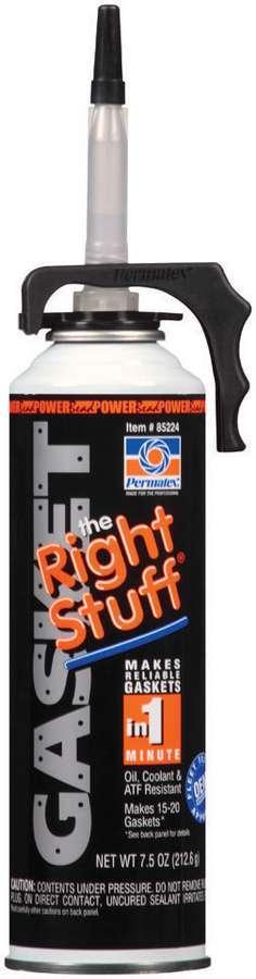 Permatex 85224 Sealant, The Right Stuff, Silicone Gray, Silicone, 7.50 oz Aerosol, Each