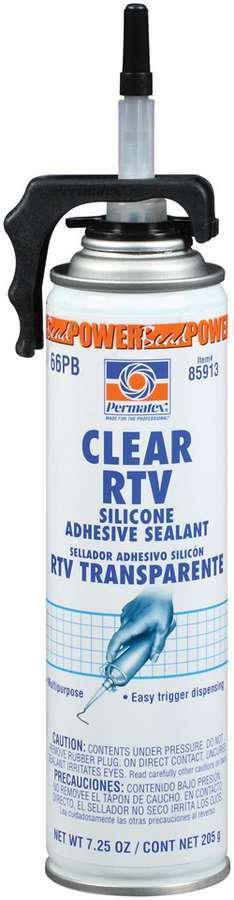 Permatex 85913 Sealant, Clear RTV Silicone Sealant, Silicone, 7.25 oz Aerosol, Each
