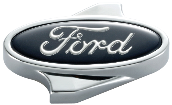 Proform 302-333 Air Cleaner Nut, Ford Oval, 1/4-20 in Thread, Ford Logo, Aluminum, Chrome, Each