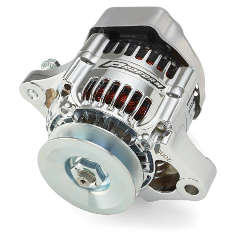 Proform 66431 Alternator, 50 amp, 12V, 1-Wire, Single V-Belt Pulley, Chrome, Each