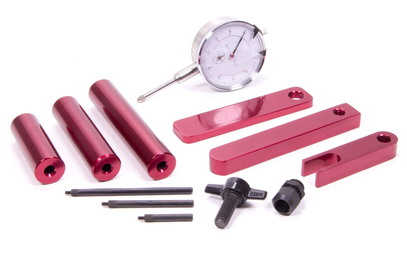 Proform 66516 Pinion Depth Setting Tool, Dial Indicator, Adapters / Stand, Aluminum, Red Anodized, Each