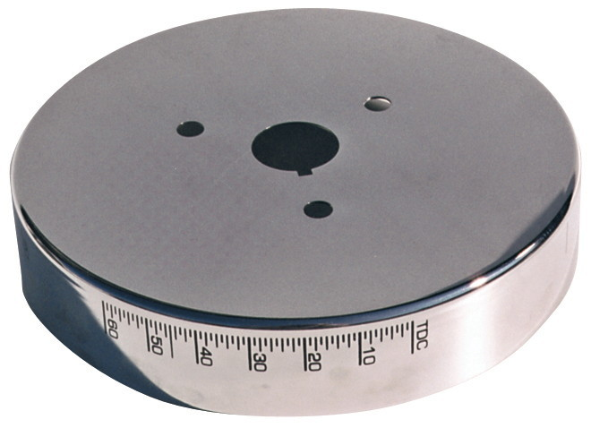 Proform 66517CC Harmonic Balancer Cover, Timing Marks, Aluminum, Chrome, 6-3/4 in Balancers, Small Block Chevy, Each