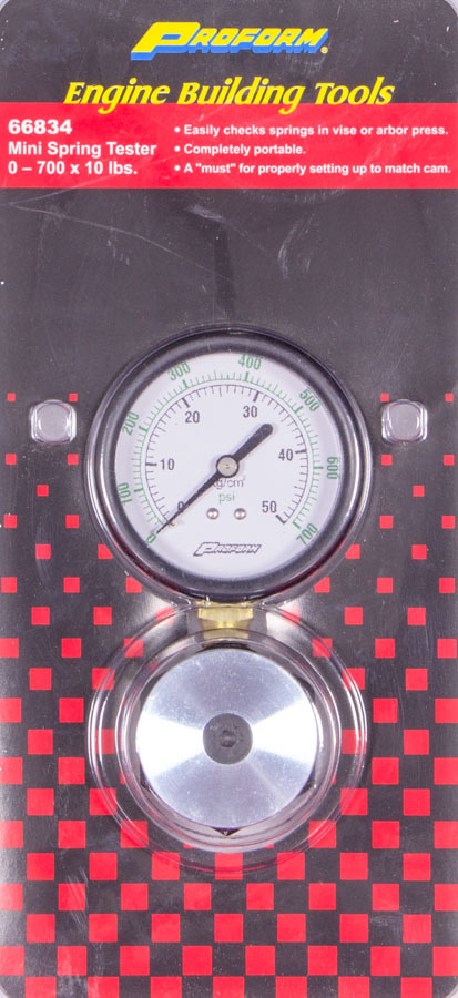 Proform 66834 Valve Spring Tester, Mini, Analog, 700 lb Range, 10 lb Scale, Each