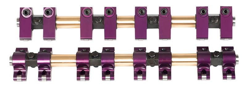 Proform 66864 Rocker Arm, Shaft Mount, 1.65 Ratio, Full Roller, Aluminum, Purple Anodized, Big Block Buick, Kit