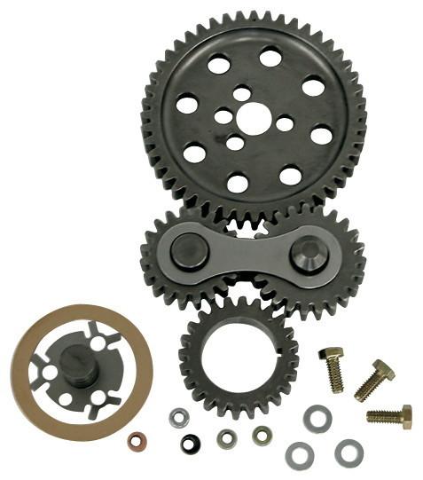 Proform 66918C Timing Gear Drive, Dual Idler, Noisy, Steel, Big Block Chevy, Kit