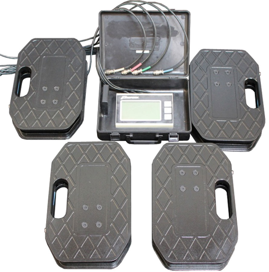 Proform 67650 Vehicle Scale, 5000 lb, Electric, 14-1 / 2 x 9-1 / 2 in Pads, 1250 Capacity Pad, Case / Controller / Pads, Kit