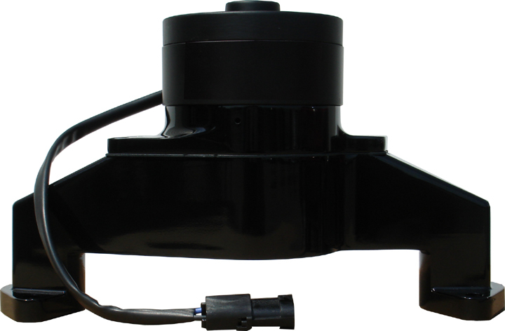 Proform 68230BK Water Pump, Electric, 1 in NPT Female Inlet, Adapter / Gaskets / Hardware, 6.000 in Height, Billet Aluminum, Black Powder Coat, Big Block Chevy, Kit
