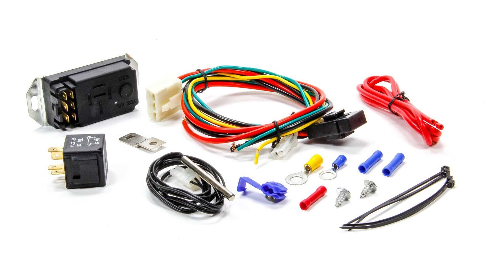 Proform 69599 Fan Controller, Adjustable, 150-240 Degree F Activation Range, Push-In Probe Sensor, 30 amp Relay, Each