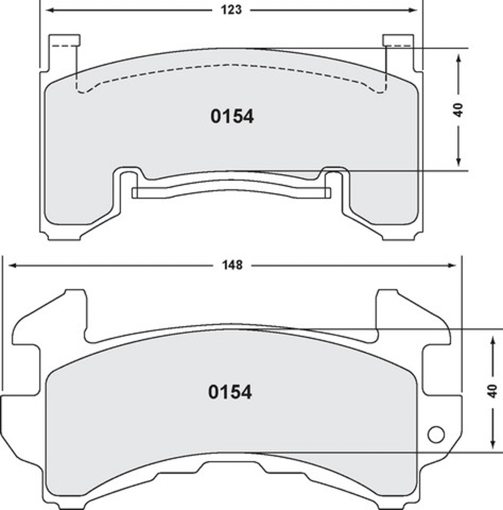 Performance Friction 0154-13-14-44 Brake Pads, 13 Compound, All Temperatures, GM Metric Calipers, Set of 4