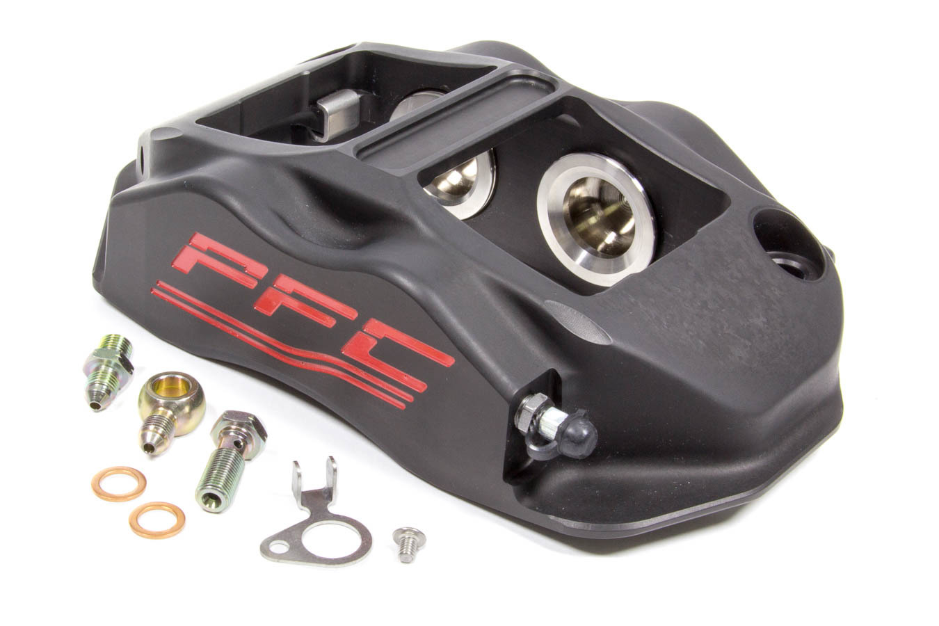 Performance Friction 94-323-410-440-01A Brake Caliper, ZR94, Driver Side, Leading, 4 Piston, Aluminum, Black Anodize, 12.716 in OD x 1.250 in Thick Rotor, 7.00 in Radial Mount, Each