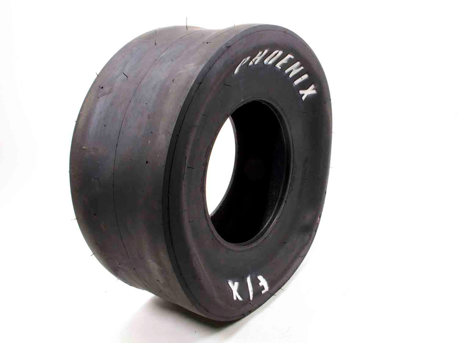Phoenix Racing Tires PH335 Tire, Drag FX Slick, 32.0 x 14.0-15, Bias Ply, F9 Compound, White Letter Sidewall, Each