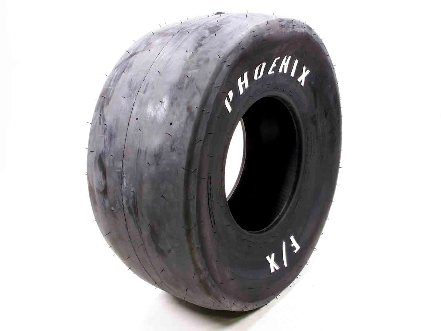 Phoenix Racing Tires PH55R Tire, Drag FX Slick, 32.0 x 13.5-15, Bias Ply, F9 Compound, White Letter Sidewall, Each