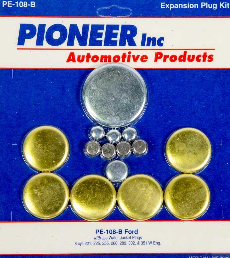 302 Ford Freeze Plug Kit - Brass