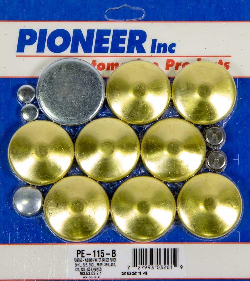 350 Pontiac Freeze Plug Kit - Brass