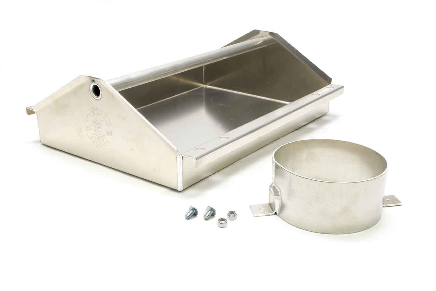 Pit Pal Products 129S Tool Tray, Carburetor, Junior, 16-1/2 x 5 x 13-1/4 in, Aluminum, Natural, 5-1/8 in Diameter Flange, Each