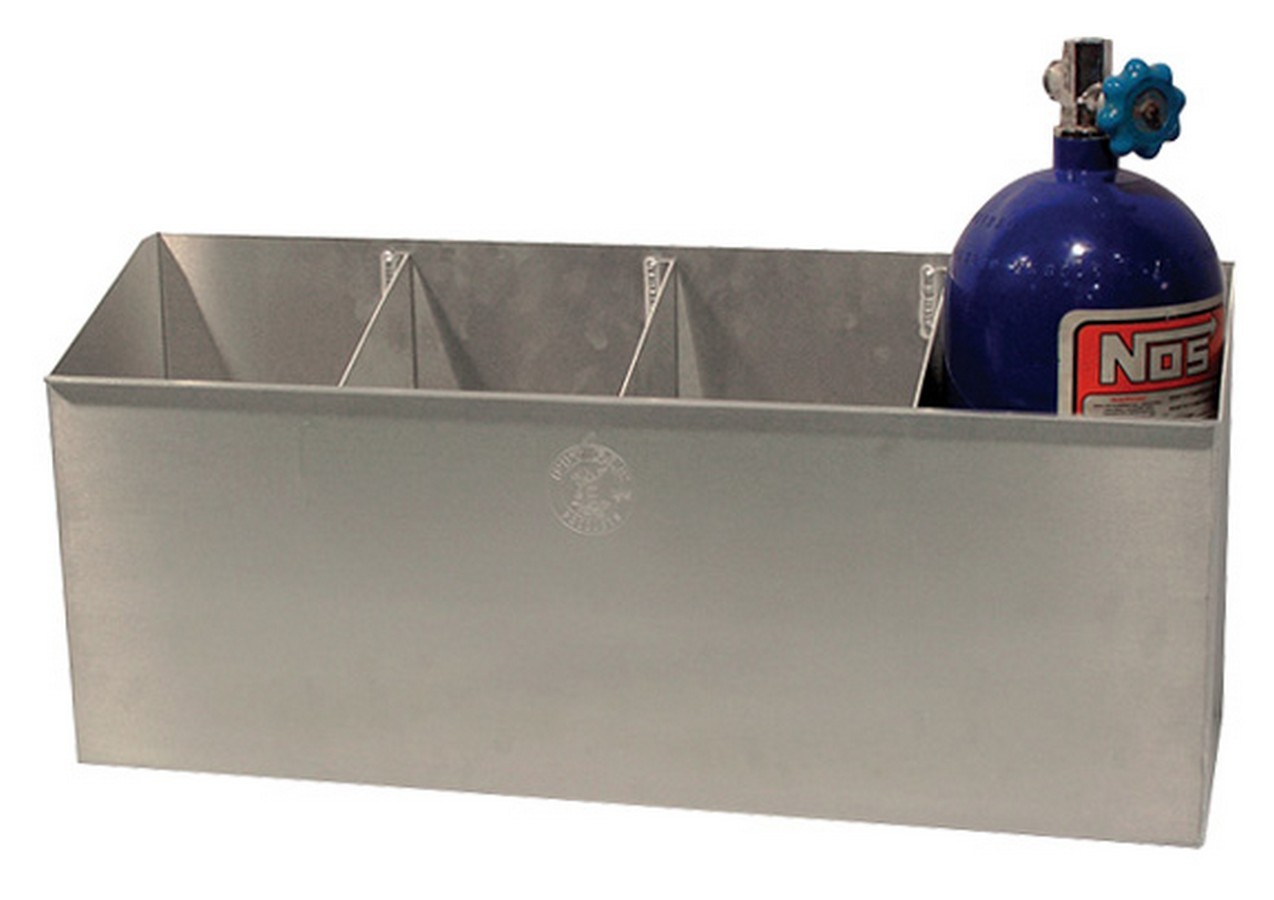 Pit Pal Products 251 Nitrous Oxide Bottle Holder, 4 Bottle Capacity, Floor / Wall Mount, 29-1/2 x 13 x 7-1/4 in, Aluminum, Natural, 10 Pound Bottles, Each