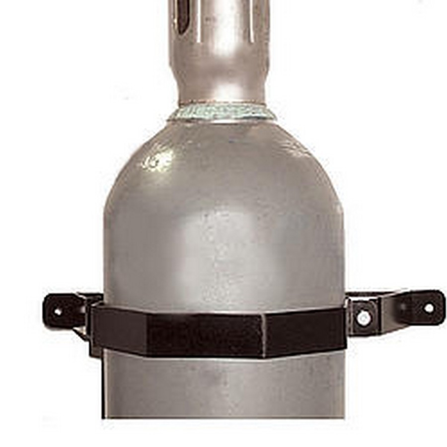 Pit Pal Products 257 Nitrogen Bottle Holders, 9-1/8 in ID, Steel, Black Powder Coat, Pair