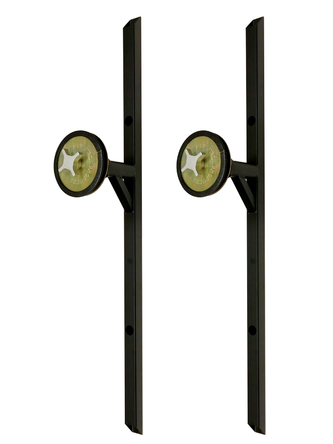 Pit Pal Products 282 Tire/Wheel Wall Mount, Telescoping, Hardware Included, Steel, Black Powder Coat, Pair