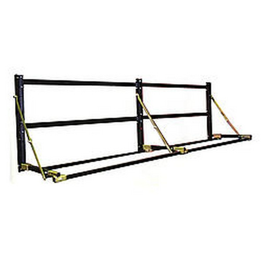 Pit Pal Products 295 Tire Rack, Wall Mount, Adjustable, 64 in Wide, Aluminum / Steel, Black Powder Coat / Natural, Each
