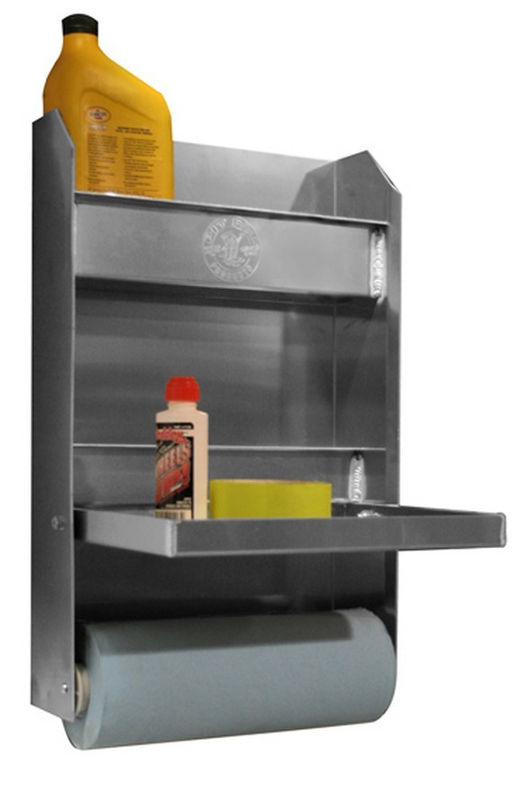 Pit Pal Products 321 Trailer Cabinet, Junior, 12 x 19-1/2 x 4-1/2 in, Aluminum, Natural, Each