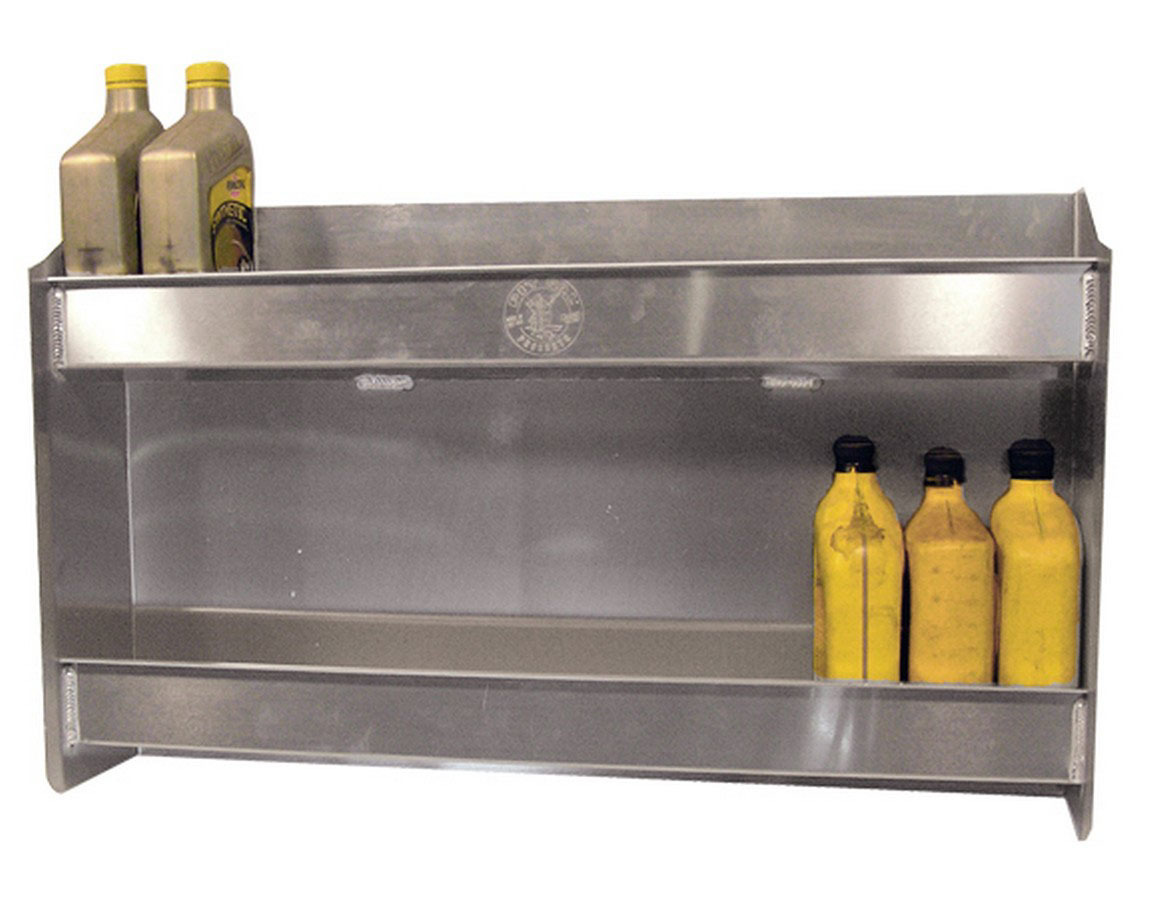 Pit Pal Products 329 Trailer Cabinet, 31 x 18 x 6 in, Aluminum, Natural, Holds 24 Quarts of Oil, Each