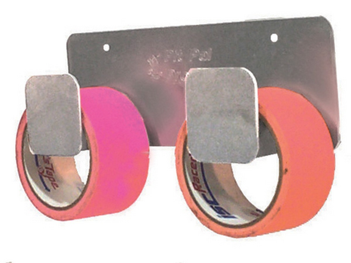 Pit Pal Products 371 Tape Hanger, Wall Mount, 2 Roll Capacity, 3-1/2 x 10-1/4 x 2-1/2 in, Aluminum, Natural, Each