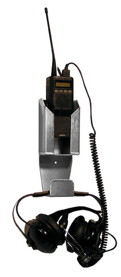Pit Pal Products 372 Radio Hanger, Wall Mount, Radio / Headset Compartments, 3-1/2 x 8-1/2 x 1-3/4 in, Aluminum, Natural, Each