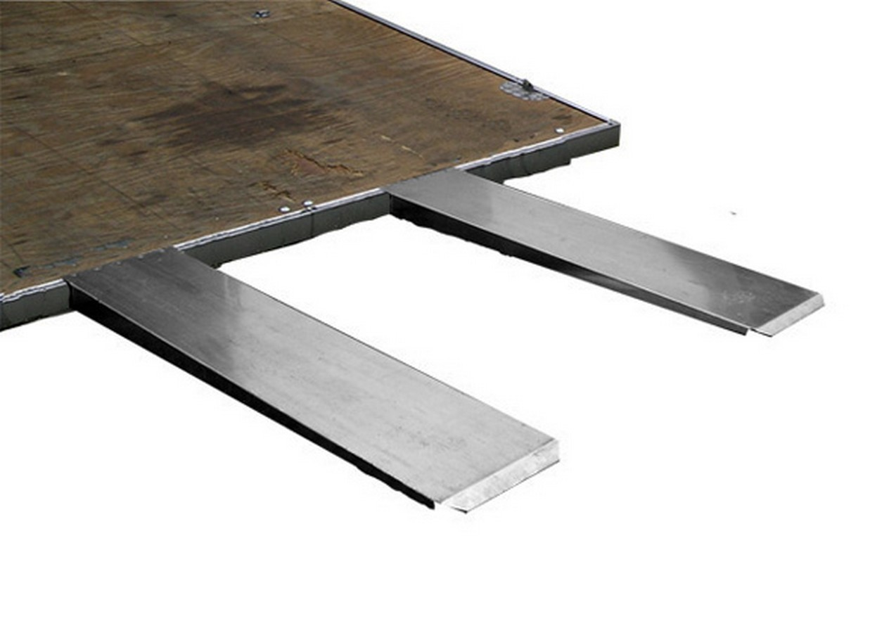 Pit Pal Products 699 Trailer Ramp, 4 in Lift Height, 36 in Long, 14 in Wide, Aluminum, Natural, Pair