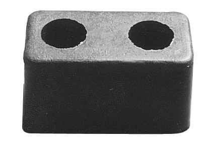 Pit Pal Products 704 Trailer Door Bumper, 6 x 3-1/4 x 2-7/8 in, Rubber, Black, Each