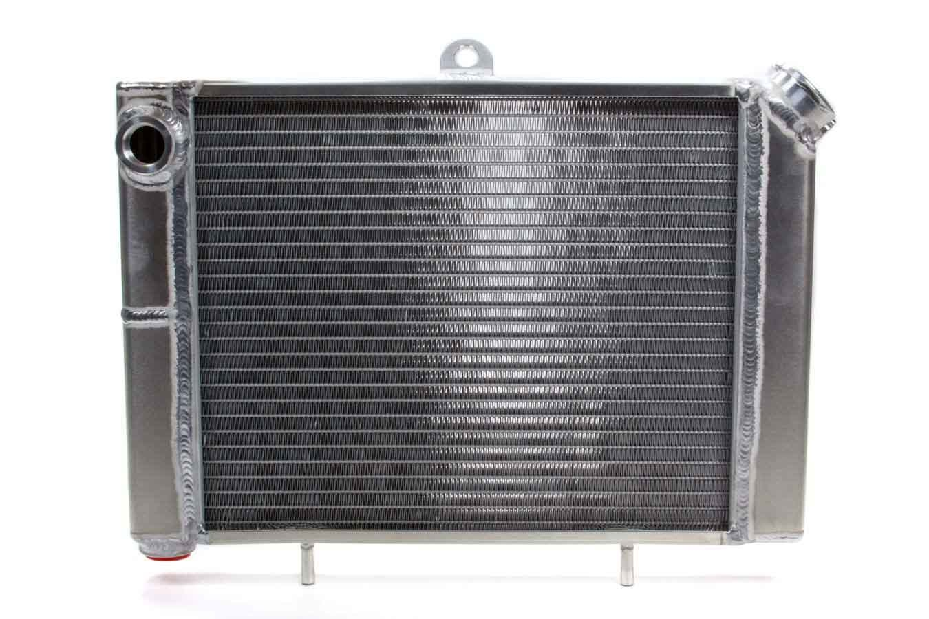 Saldana MSR Radiator, 17-3/4 in W x 12 in H x 1-13/16 in D, Driver Side Inlet, Passenger Side Outlet, Aluminum, Natural, Mini Sprint, Kit