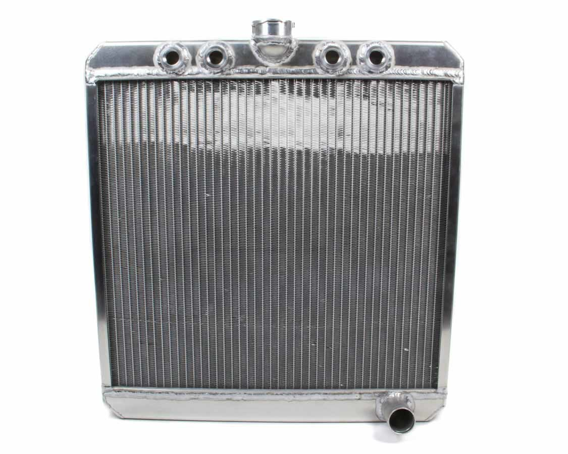 Saldana SRS-15 Radiator, Down Flow, 20 in W x 21-1/2 in H x 1-13/16 in D, Center Inlet, Passenger Side Outlet, Aluminum, Natural, Sprint Car, Each