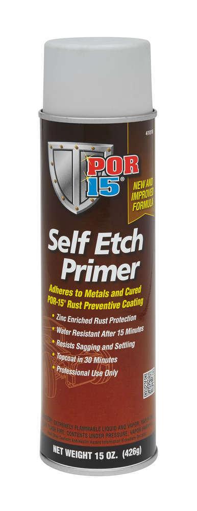 POR-15 41018 Primer, Self Etching, Urethane, Gray, 15.00 oz Aerosol, Each