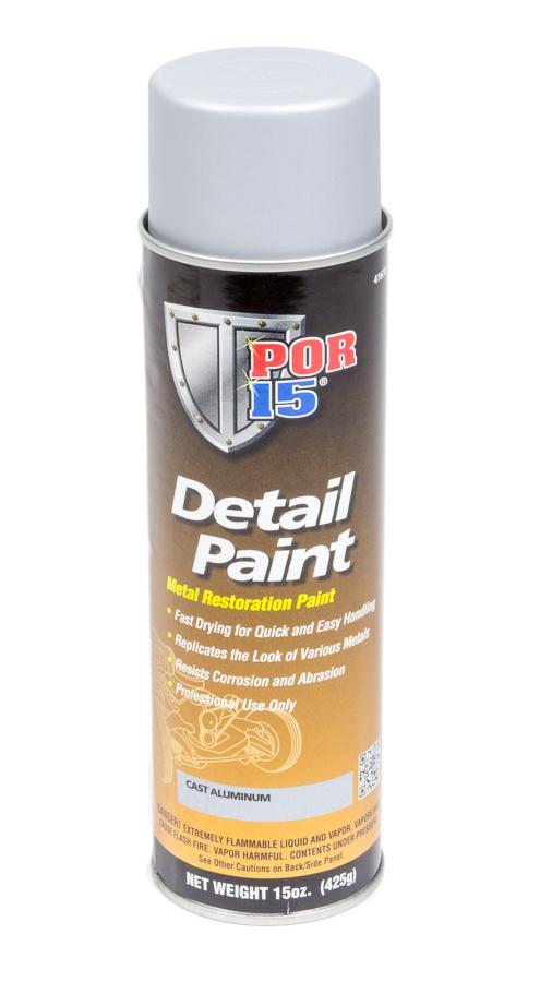 POR-15 41618 Paint, Detail Paint, Cast Aluminum, 15.00 oz Aerosol, Each