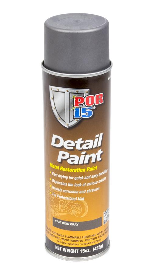 POR-15 41718 Paint, Detail Paint, Cast Iron, 15.00 oz Aerosol, Each