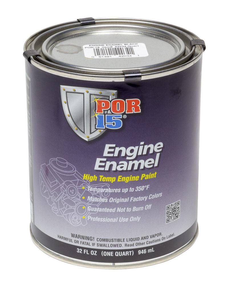 POR-15 42034 Paint, Engine Enamel, Gloss Black, 1 qt Can, Each
