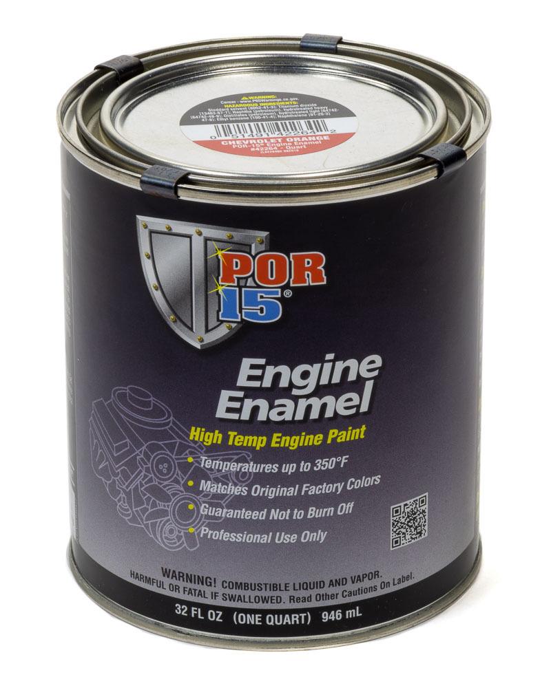 POR-15 42264 Paint, Engine Enamel, Gloss Chevy Orange, 1 qt Can, Each