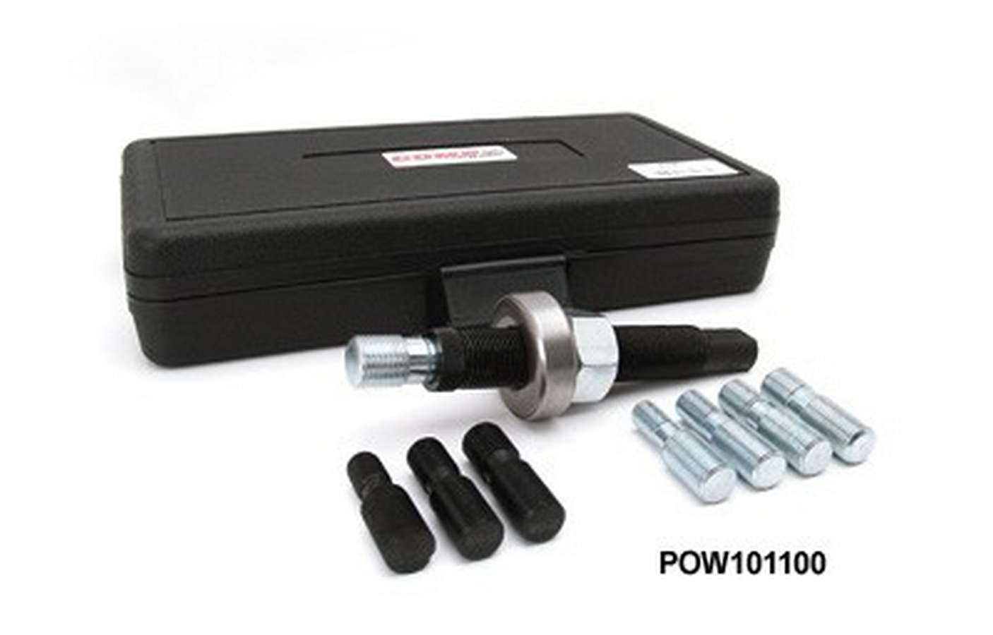 Powerhouse 101100 Harmonic Balancer Installation Tool, Carry Case, 8 Adapters Included, Steel, Universal, Kit
