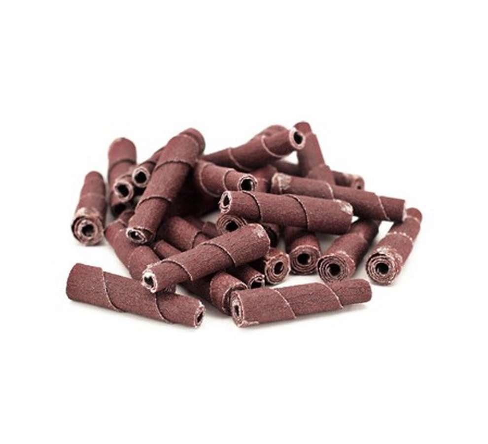 Powerhouse 351790 Sandpaper Cartridge Roll, Tapered, 80 Grit, 3/8 in OD, 1/4 in Mandrel, Set of 50